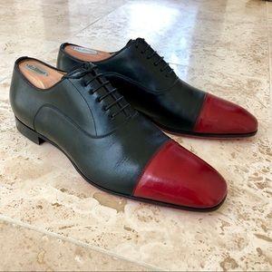 Men's Christian Louboutin Black/Red Dress Shoes!